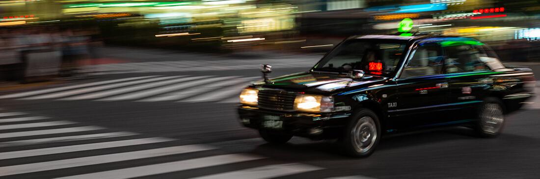 タクシーの表示板とは?表示板の種類と意味は?